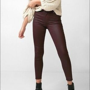 Express Coated Leather Ankle Legging High Rise